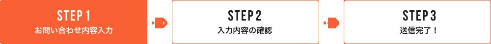 STEP1 お問い合わせ内容入力