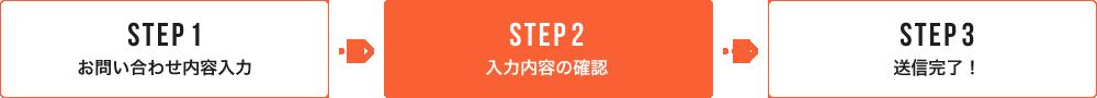 STEP2 入力内容をご確認